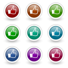 like web icons colorful set