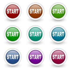 start web icons colorful set