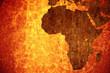 Leinwandbild Motiv Grunge vintage scratched Africa map background.