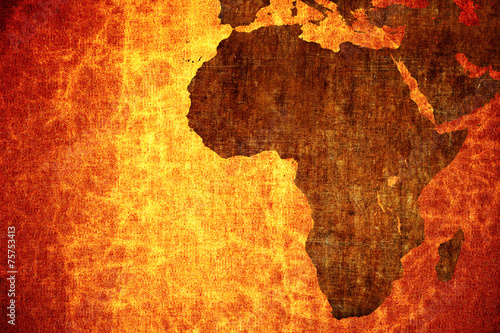 Papiers peints Algérie Grunge vintage scratched Africa map background.