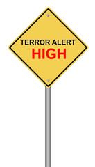 Terror Alert High Warning Sign