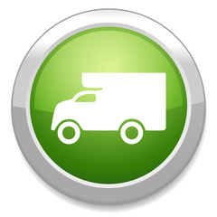Delivery truck sign. Cargo van icon.