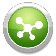 Share sign icon. Link technology button