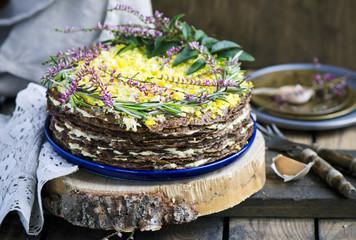 Liver cake with garlic