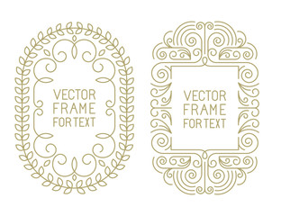 Vector floral frames with copy space
