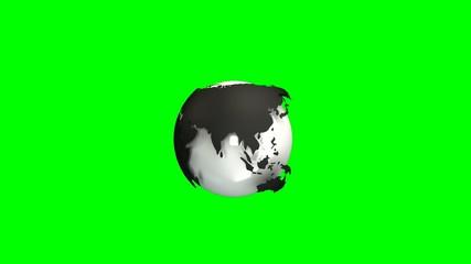 Globe model rotating loop