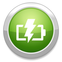 Battery charging sign icon. Lightning sign.