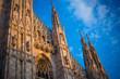 canvas print picture - Duomo of Milan - detail
