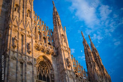 canvas print picture Duomo of Milan - detail