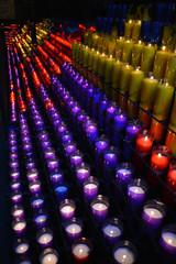 Velas en el santuario de Montserrat Barcelona