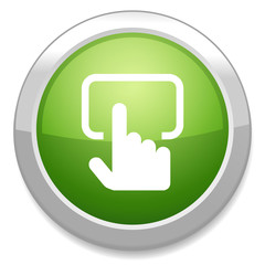 Touch screen monitor sign icon.
