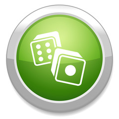Dices sign icon. Casino game symbol