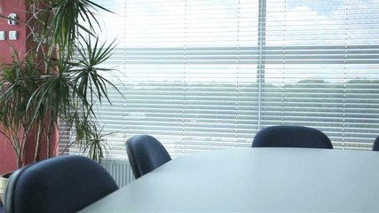 Modern corporation office prepared for a business meeting