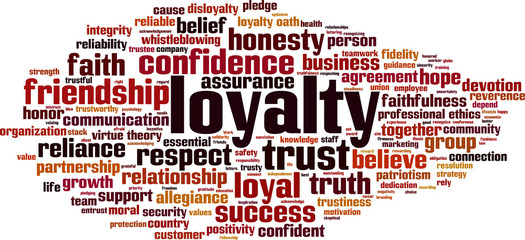 Loyalty word cloud concept. Vector illustration