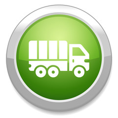 truck sign icon. Cargo van button. Delivery symbol
