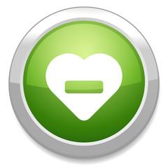 Heart sign icon. Remove lover. No love.