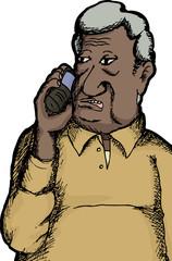 Indian Man on Telephone