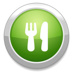 Eat sign icon. Knife and fork symbol.