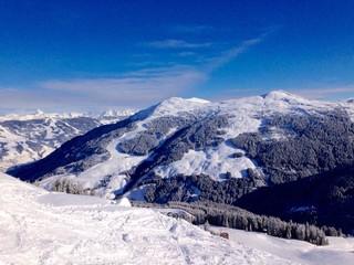 sportregion im winter in den alpen