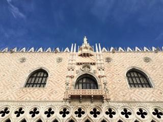 Doges Palace facade, Venice, Italy