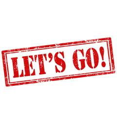 Let's Go!-stamp