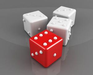 winning dice concept