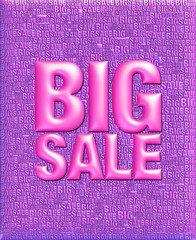 3D text big sale on same text background