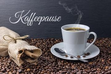 Kaffeepause Konzept