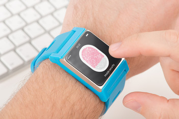 Fingerprint scanning on smartwatch