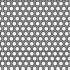 Abstract minimalistic black and white pattern hexagon