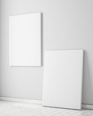 mock up poster in white scandinavian interior, background