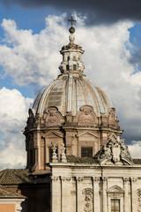 Cupola della chiesa dei santi luca e martina, Foro Romano - Roma