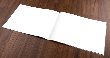 Blank catalog,brochure, magazines,book mock up on wood backgroun