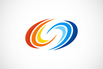 circle wave color logo