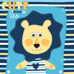 cute leo vector illustration