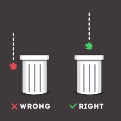 Garbage sticker