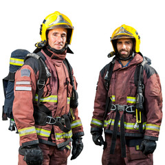 Two firemen isolated.