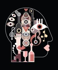 Abstract Art Head