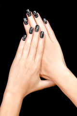 Nail Art. Magnetic Nail Lacquer. Tattoo