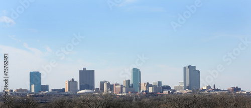 Foto op Canvas Texas Downtown Skyline Fort Worth Texas