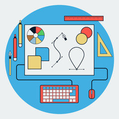 Graphic design vector concept