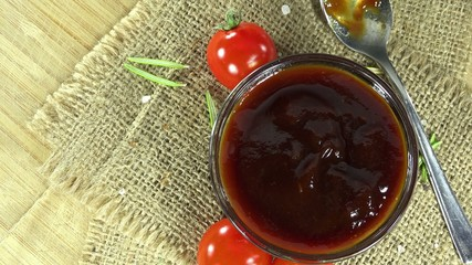 Portion of BBQ Sauce (seamless loopable)