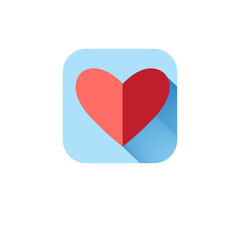 In love icon heart