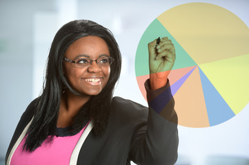 African American Businesswoman Doing Presentation