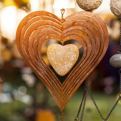 Valentine's Day: heart rusty metal