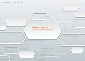 Infographics Vector Background Hexagon