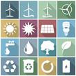 Iconset *** Renewable Energy - white