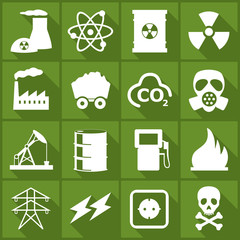 Iconset *** Fossile Energy - green