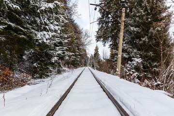 The railway between Bakuriani and Borjomi