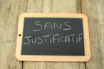 ardoise sans justificatif